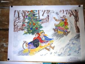 """конкурс рисунков """"Новый год в далеком прошлом"""""""