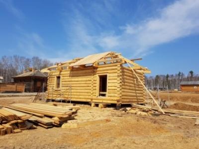 В Архитектурно – этнографическом музее «Тальцы» продолжается строительство Московского тракта.